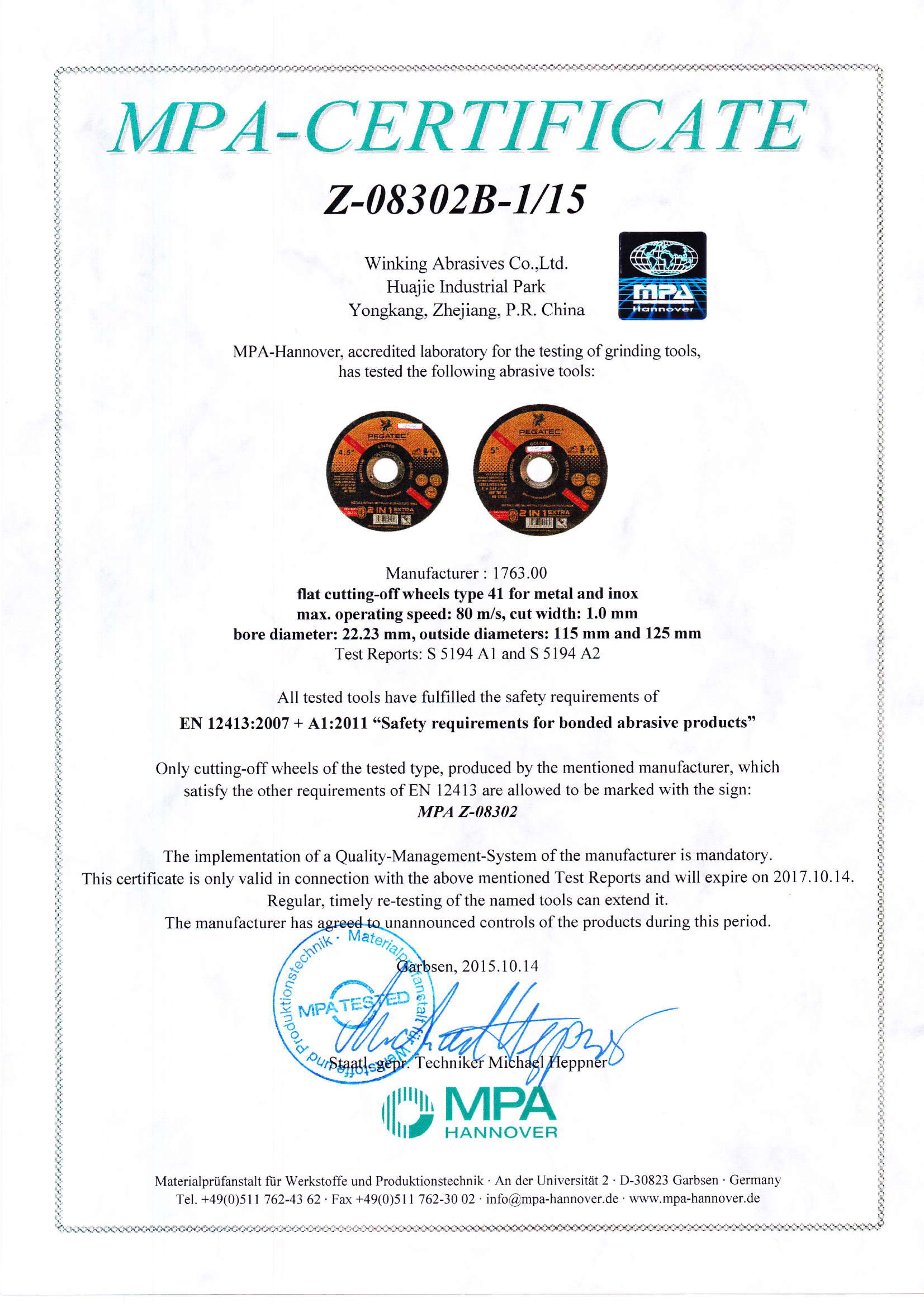 Certification Pegatec